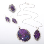 Sterling Silver and Dyed Agate Jewelry