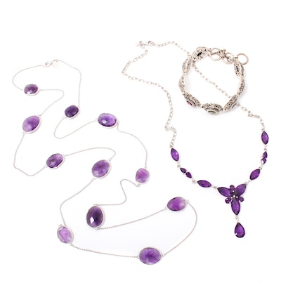 Sterling Silver Jewelry with Amethyst, Topaz, Garnet, Citrine, and Peridot