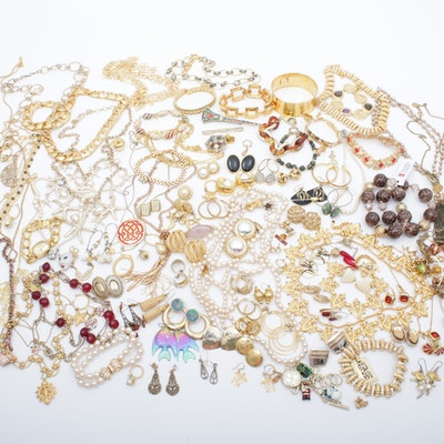 Gold Tone Costume Jewelry Featuring Camrose & Kross