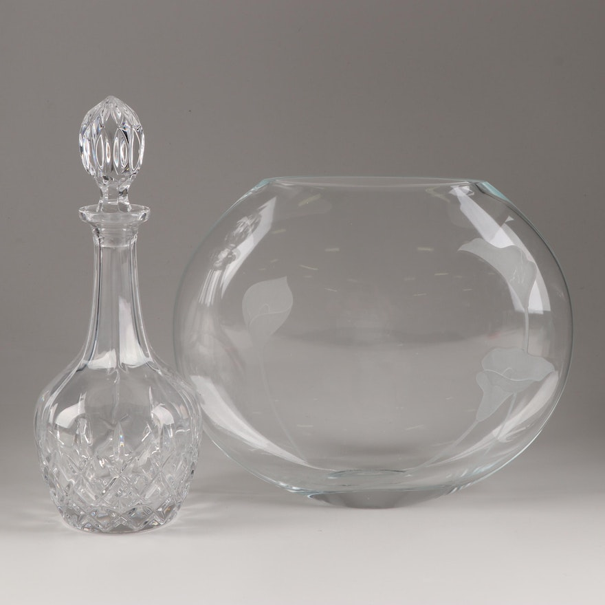 Glass Decanter and Vase
