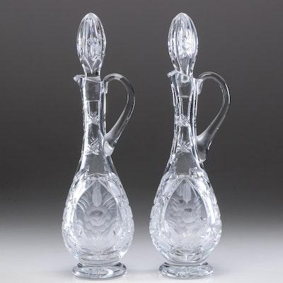American Brilliant Style Cut Glass Decanters