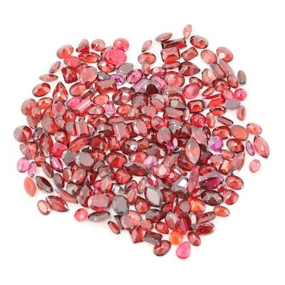 Loose 188.50 CTW Garnet Gemstones