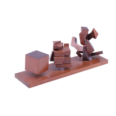Abstract Modern Art Wood Sculpture
