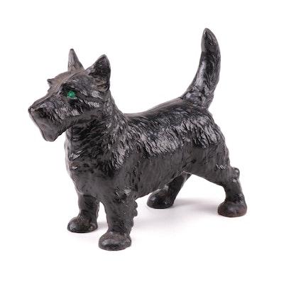 Cast Iron Scottish Terrier Scottie Dog Doorstop Statue