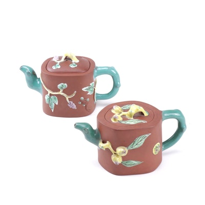 Chinese Red Clay Yixing Style Teapots