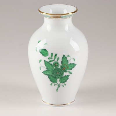 """Herend """"Chinese Bouquet Green"""" Porcelain Vase"""