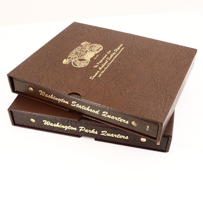 Two Dansco Albums of Washington Statehood and National Parks Quarters