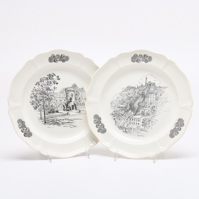 Wedgwood Caroline Williams Cincinnati Mount Adam and Elsinore Tower Plates