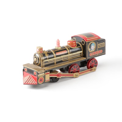 General Tin-Litho Antique Train Toy Engine