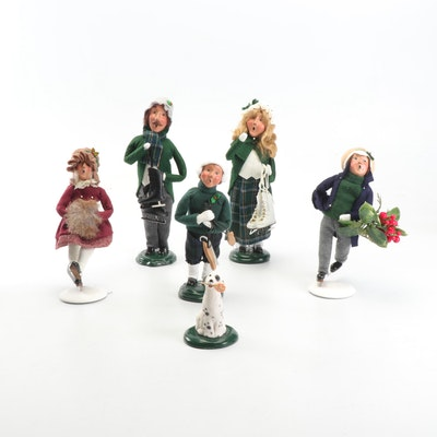 Signed Limited Edition Byers' Choice Ice Skating Carolers