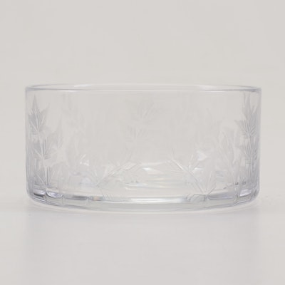 "William Yeoward ""Fern"" Etched Crystal Bowl"