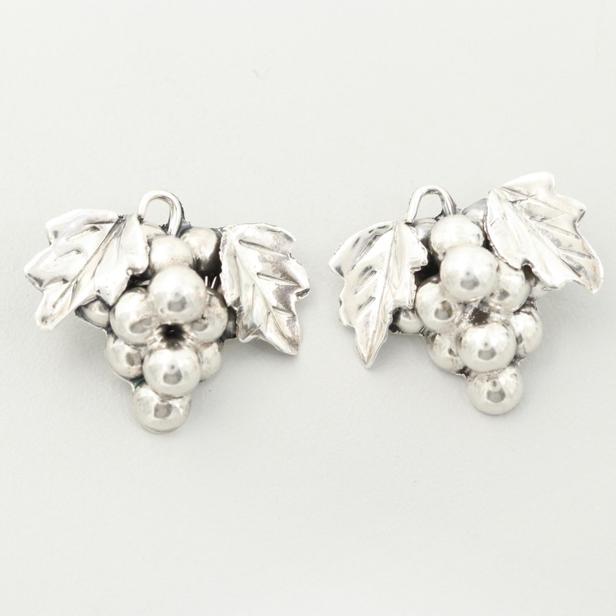 Taco Sterling Silver Grape Cluster Buttons