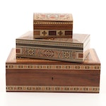 Syrian and Other Decorative Inlay Boxes