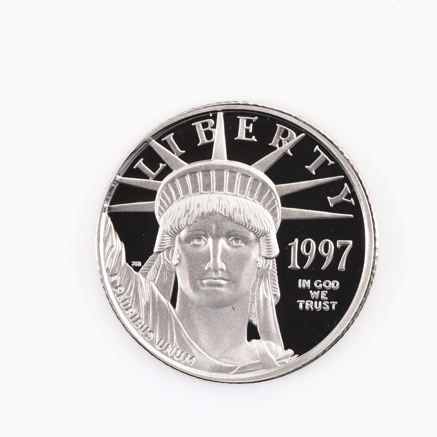1997-W Innagural Issue Statue of Liberty Platinum Eagle Proof Coin