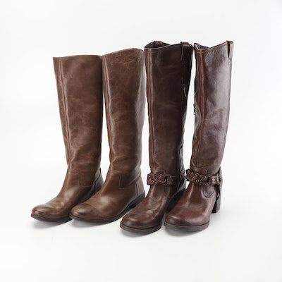 Luxury Rebel and Nurture Brown Leather Boots