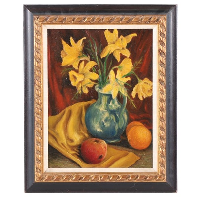 Spandel Still Life with Daffodils Oil Painting
