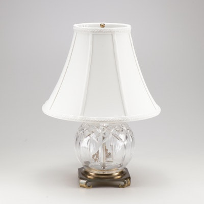 Waterford Crystal Globe Lamp with Waterford Shade