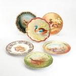 Painted Bird Pattern Decorative Plates