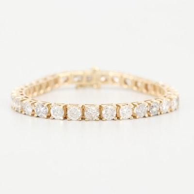 14K Yellow Gold 15.00 CTW Diamond Bracelet