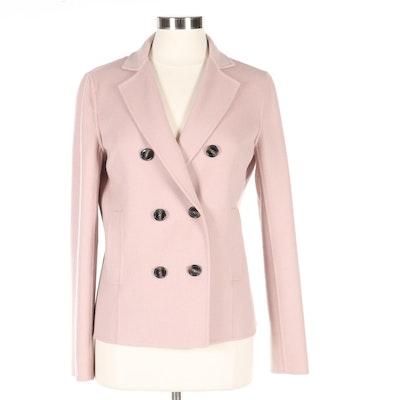 Max Mara Weekend Pink Wool Double-Breasted Jacket