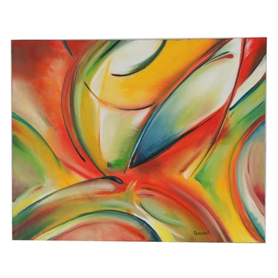 Husidio John Tempest Abstract Oil Painting