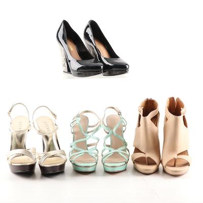 Platform Dress Sandals, Platform Pumps, and Cut-Out Stiletto Booties