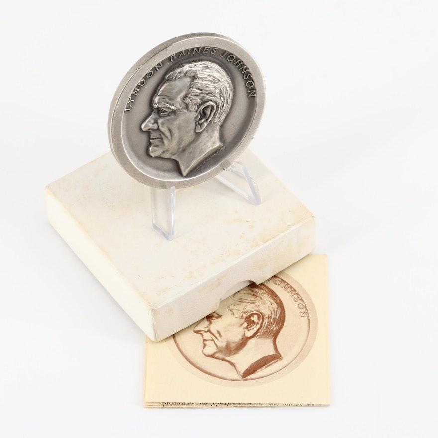 1965 Lyndon B. Johnson Commemorative Silver Medal
