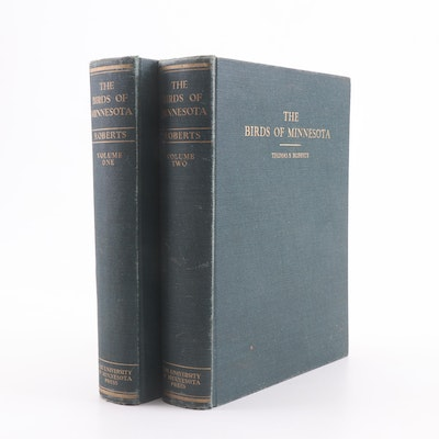 """1932 First Edition """"The Birds of Minnesota"""" by Thomas Roberts with Color Plates"""