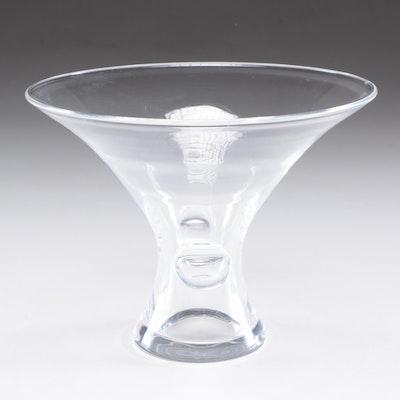 Steuben Crystal Flared Bouquet Vase, Circa 1940s