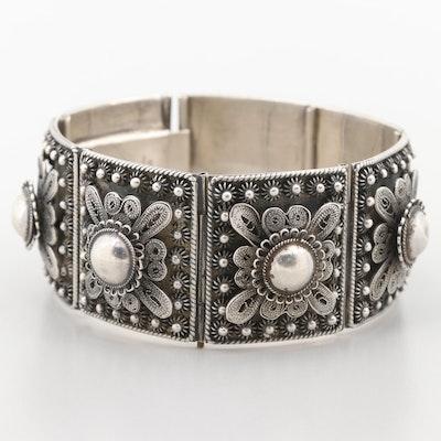 Cannetille Vintage Thai Sterling Silver Bracelet