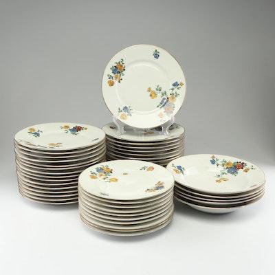 E. Madesclaire Jeune Porcelain Dinnerware, Circa 1930s