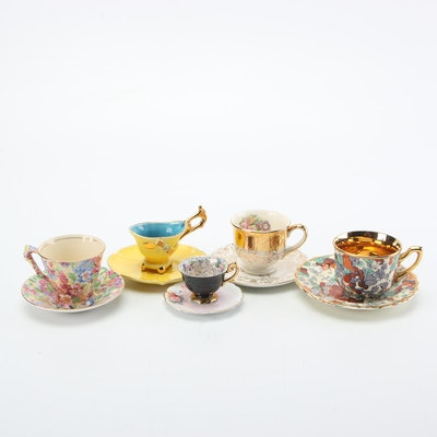 Tea and Demitasse Cups and Saucers Including Royal China