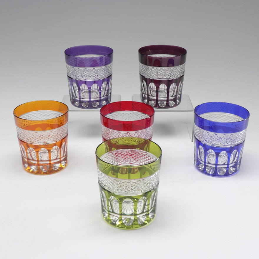 Pressed Crystal Lowball Glasses