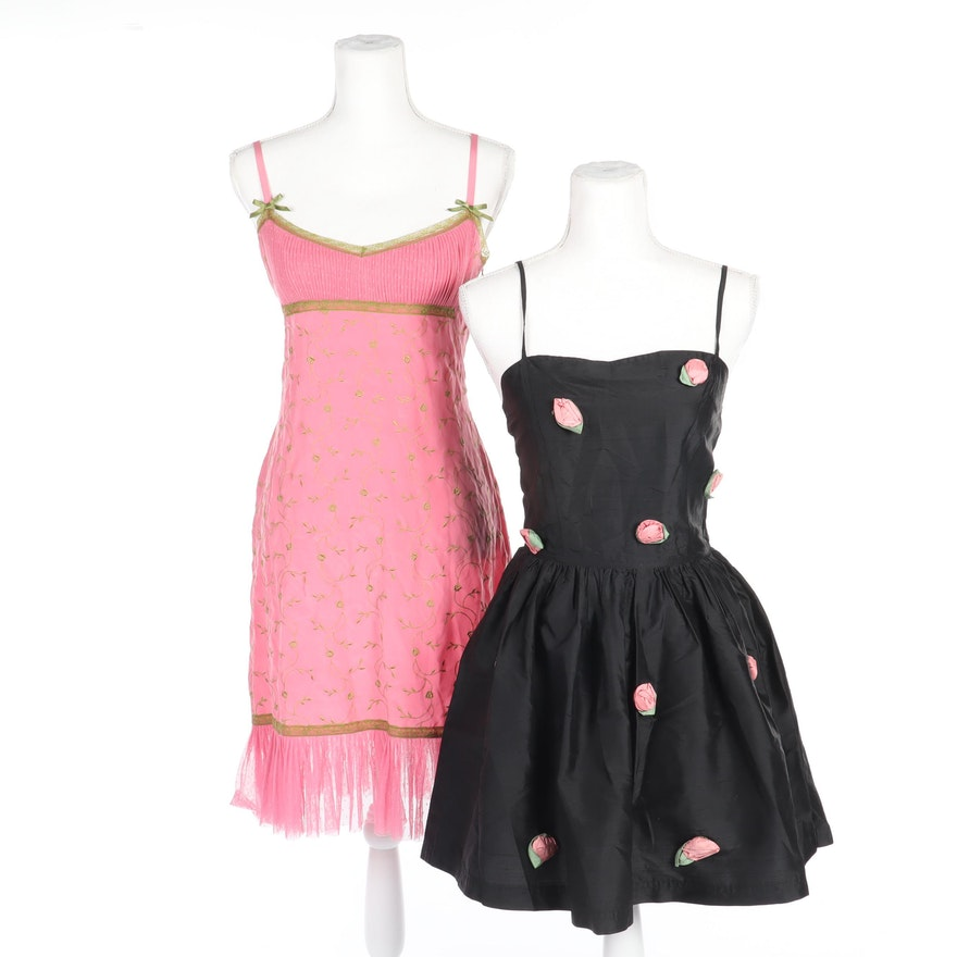 Betsey Johnson New York and Betsey Johnson Luxe Silk Sleeveless Dresses