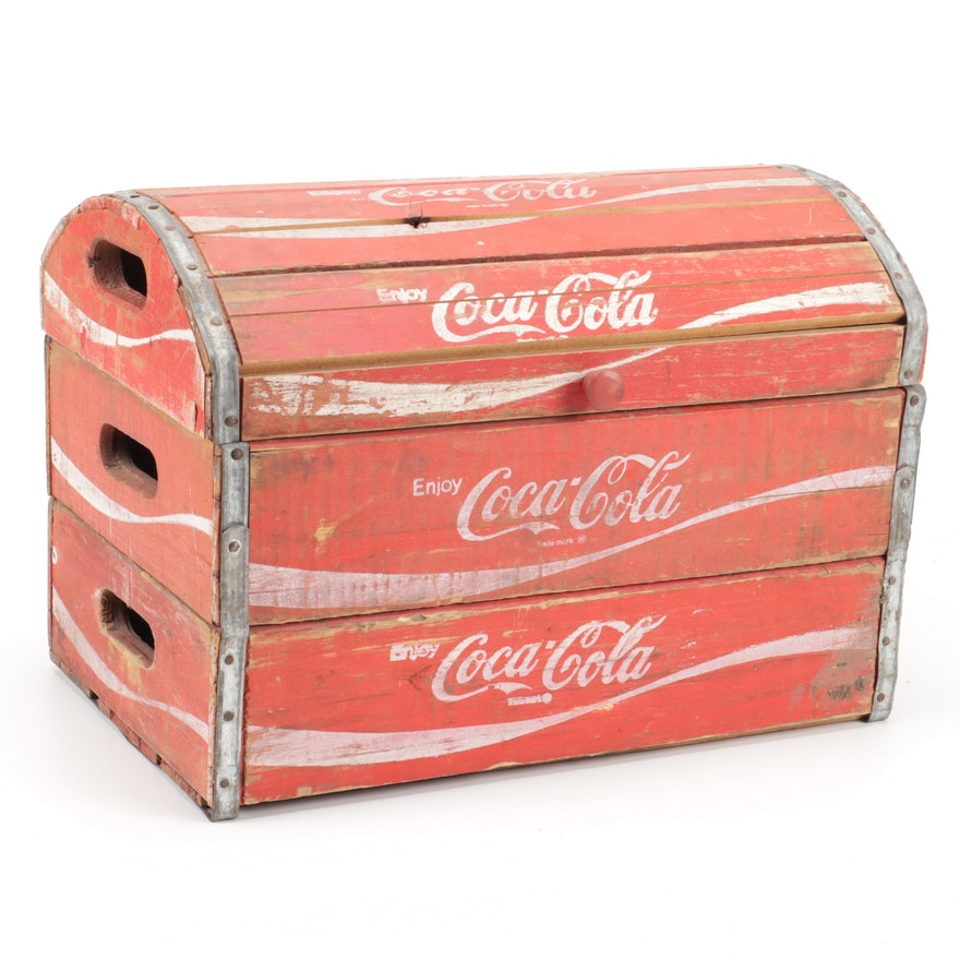 Converted Coca-Cola Crate Dome-Top Chest