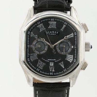 Stauer Silver Tone Automatic Calendar Wristwatch