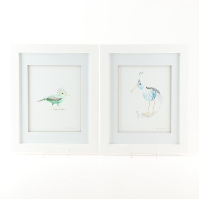 "Sabrina Ferry Giclees ""Kiwi"" and ""Cock-of-the-Rock"""