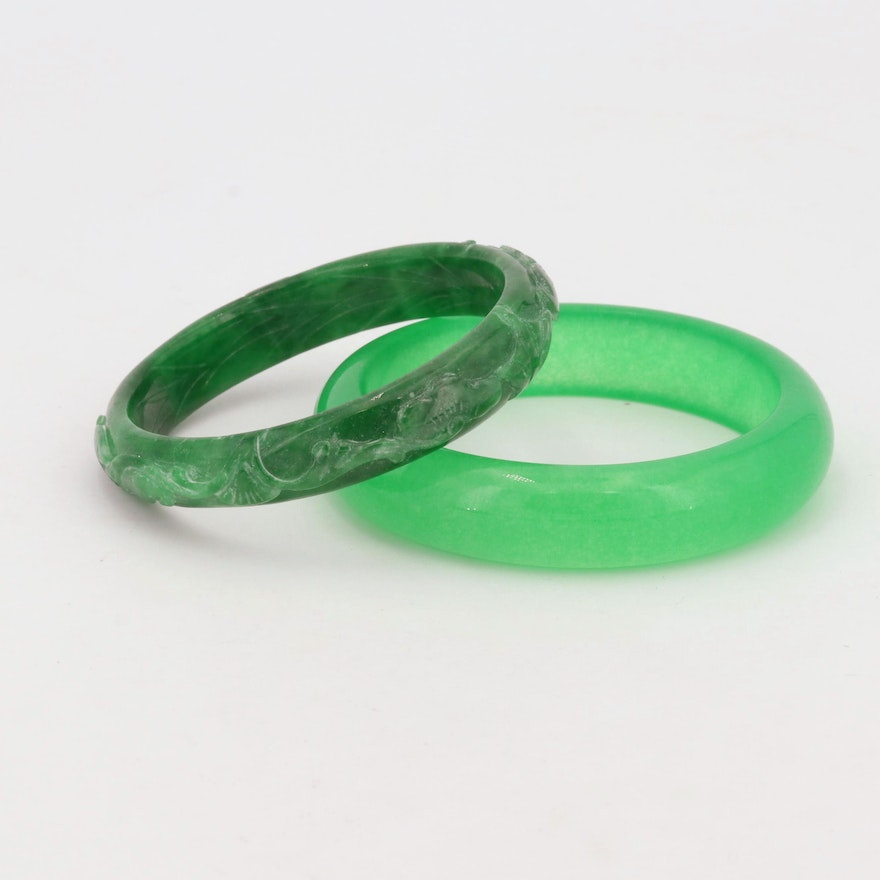 Dyed Jade Bangle Bracelets