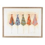 Pastel Drawing of Tie Designs