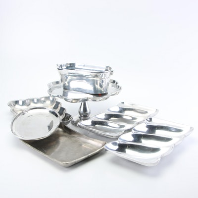 Pewter and Metal Alloy Serveware