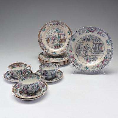"Ashworth Brothers ""Chinese Pattern"" Dinnerware"