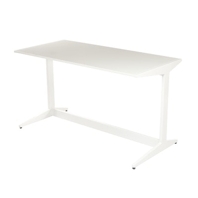CB2, Modernist Style White Metal and Laminate Work Table