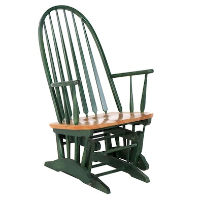 Contemporary Bent Back Glider Chair