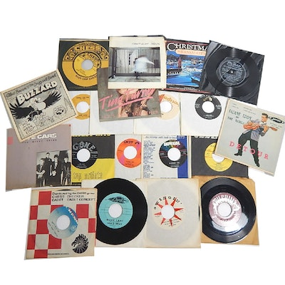 45 RPM Records with The Valets, Fats Domino, The Cars, Tina Turner, More