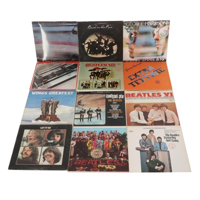 The Beatles and Solo Projects 33 1/3 RPM Records