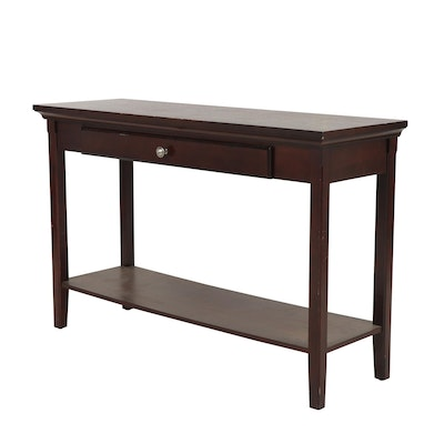Contemporary Engineered Wood Console Table