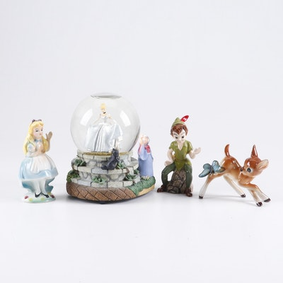 "Walt Disney Figurines and ""Bibbidi Bobbidi Boo"" Musical Snow Globe"