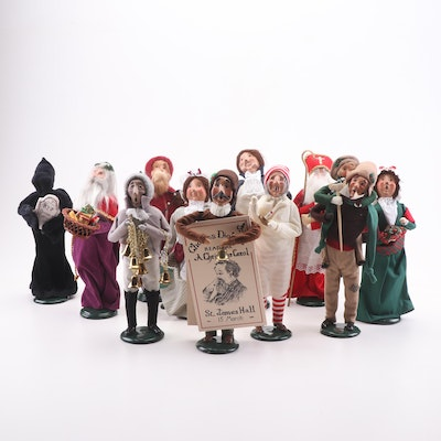"Byers' Choice Christmas Figurines Featuring ""Carolers"" and ""A Christmas Carol"""