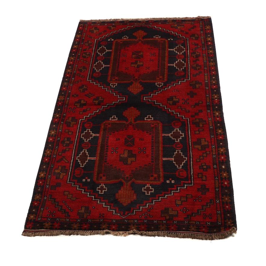 Hand-Knotted Pakistani Bahor Wool Rug