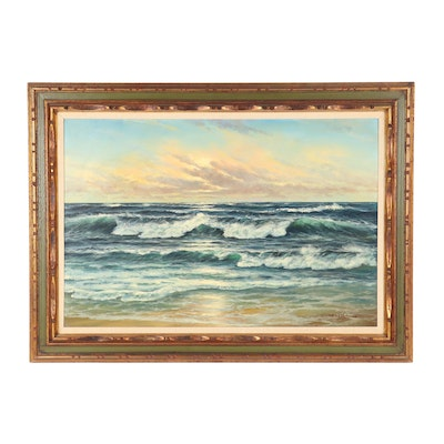Late 20th Century Seascape Oil Painting
